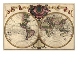 World Map Prepared for Then French King