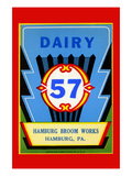 Dairy 57 Broom Label