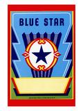 Blue Star Broom Label