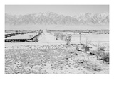 Manzanar from Guard Tower  View West (Sierra Nevada in Background)