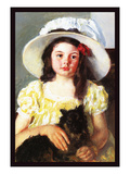 Francoise with a Black Dog