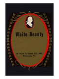 White Beauty Broom Label