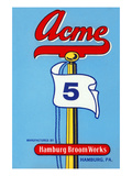 Acme 5 Broom Label