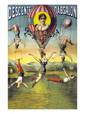 French Balloon Circus Poster