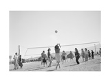 The Volley Ball Game Reproduction d'art par Ansel Adams