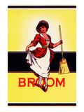 Dainty Woman Broom Label