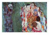 La mort et la vie (or) Reproduction d'art par Gustav Klimt