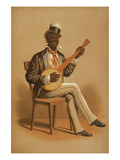 Black Banjo Player