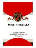Miss Priscilla Broom Label