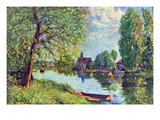 River Landscape at Moret-Sur-Loing