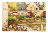 The Laundresses by Moret by Alfred SisleyJpg