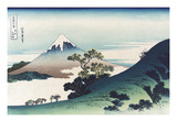Inumi Pass in the Kai Province Reproduction d'art par Katsushika Hokusai