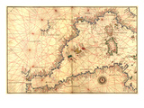 Portolan or Navigational Map of the Western Mediterranean from Gibraltar to Piedmont and Sardinia