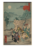 Porters Drop a Man Being Carried in a Sedan Chair