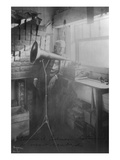Thomas Edison Listening to the Phonograph