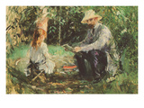 Eugène Manet and His Daughter in the Garden