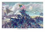African American Unit  the 54th Massachusetts Overruns Fort Wagner