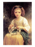 Child Braiding a Crown