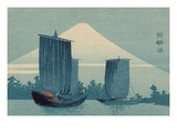 Sailboats and Mount Fuji