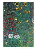 Jardin Reproduction d'art par Gustav Klimt