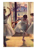 Three Dancers in a Practice Room Reproduction d'art par Edgar Degas