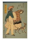 French Girl Taking Walk with Dog (Furansu Komusume Inu O Hikite Sampo No Zu)