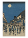 Full Moon over a Crowded Street