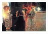 Schubert at the Piano Reproduction d'art par Gustav Klimt