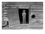 Farm Boy in Doorway of Tobacco Barn