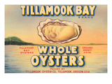 Tillamook Bay Whole Oysters Reproduction d'art