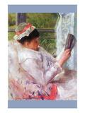 Reading Mrs (Lydia Cassatt) by Cassatt