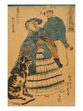 American Lady Playing Accordion (Amerika Jokan Hansui O Gansuru No Zu)