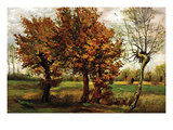 Autumn Landscape with Four Trees Reproduction d'art par Vincent Van Gogh