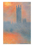 Houses of Parliament  Effect of Sunlight in the Fog