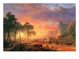 Le chemin de l'Oregon Reproduction d'art par Albert Bierstadt