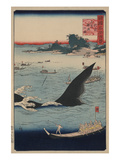 Whale Hunting at the Island of Goto in Hizen (Hizen Goto Kujiraryo No Zu)
