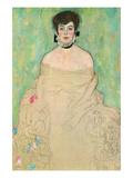 Portrait of Amalie Zuckerkandl Reproduction d'art par Gustav Klimt
