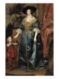 Portrait of Henrietta Maria with a Dwarf
