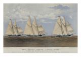 The Great Ocean Yacht Race Between the Henrietta  Fleetwing and Vesta