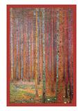 Tannenwald Reproduction d'art par Gustav Klimt