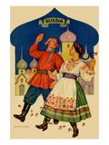 Russian Dancers in a Folk Costume