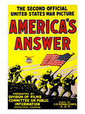 America's Answer the Second Official United States War Picture