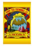 Kwan Yick Fireworks Co Golden Bat Brand