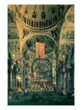 Interior of St Marks Church  Venice