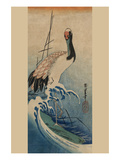 Crane in Waves