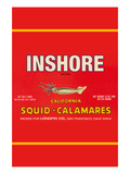 Inshore Brand Squid - Calamares Reproduction d'art par Paris Pierce