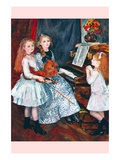 Portrait of the Daughters of Catulle Mendès-At the Piano