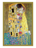 Le Baiser Reproduction d'art par Gustav Klimt