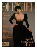 L'Officiel  September 1993 - Magalie dans une Longue Robe Noire d'Yves Saint Laurent