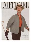 L'Officiel  March 1951 - Ensemble de Christian Dior